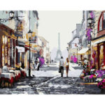 Painting By Numbers Kit DIY Lively Street Canvas Oil Art Picture Home Decor