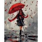 Painting By Numbers Kit DIY Blind Girl Hand Painted Canvas Oil Art Picture