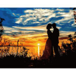 Painting By Numbers Kit DIY Sunset Lovers Canvas Oil Art Picture Home Decor