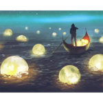 Painting By Numbers Kit DIY Moon River Canvas Oil Art Picture Home Decor
