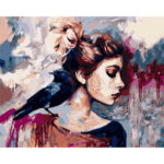 Painting By Numbers Kit DIY Beauty Women Canvas Oil Art Picture Wall Decor