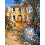Painting By Numbers Kit DIY House Hand Painted Canvas Oil Wall Art Picture