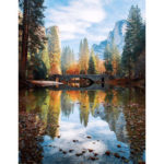 Painting By Numbers Kit DIY Hill Bridge Hand Painted Canvas Oil Art Picture