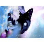 Painting By Numbers Kit DIY Black Cat Hand Painted Canvas Oil Art Picture
