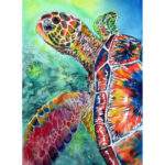 Painting By Numbers Kit DIY Turtle Hand Painted Canvas Oil Art Picture Gift