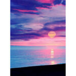 Painting By Numbers Kit DIY Sunrise Hand Painted Canvas Oil Art Picture
