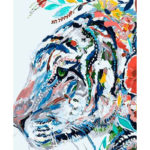 Painting By Numbers Kit DIY Colorful Tiger Canvas Oil Art Picture Craft