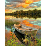 Painting By Numbers Kit DIY Boat Grove Hand Painted Canvas Oil Art Picture