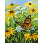 DIY Butterfly Flower Painting By Numbers Kit Canvas Oil Art Picture Craft