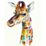 Painting By Numbers Kit DIY Color Giraffe Canvas Oil Art Picture Home Decor