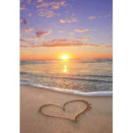 5D DIY Full Drill Diamond Painting Sunrise Heart Cross Stitch Embroidery