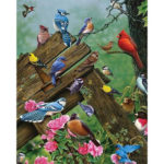 Painting By Numbers Kit DIY Resting Birds Canvas Oil Art Picture Home Decor