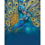 Painting By Numbers Kit DIY Flamboyant Peafowl Canvas Oil Art Picture Craft