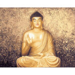 Painting By Numbers Kit DIY Smile Buddha Canvas Oil Art Picture Home Decor