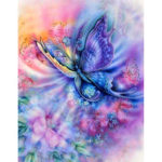 Painting By Numbers Kit DIY Butterfly Canvas Oil Art Picture for Home Decor