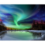 Painting By Numbers Kit DIY Aurora Canvas Oil Picture Home Wall Artworks