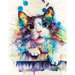 Painting By Numbers Kit DIY Kitten Canvas Oil Art Wall Picture Home Decor