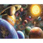 Painting By Numbers Kit DIY Planet Hand Painted Canvas Oil Art Picture Gift
