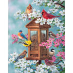 Painting By Numbers Kit DIY Eating Birds Canvas Oil Art Picture Home Decor