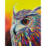 Painting By Numbers Kit DIY Color Owl Hand Painted Canvas Oil Art Picture