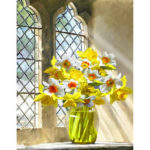 Painting By Numbers Kit DIY Window Flowers Canvas Oil Art Picture Craft
