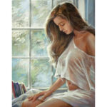 Painting By Numbers Kit DIY Sexy Beauty Hand Painted Canvas Oil Art Picture