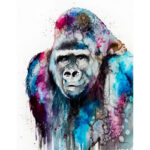Painting By Numbers Kit DIY Chimpanzee Hand Painted Canvas Oil Art Picture
