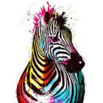 Painting By Numbers Kit DIY Color Zebra Hand Painted Canvas Oil Art Picture