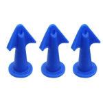 3pcs Multi-functional Silicone Sealant Nozzle Scraper Grout Caulk Tools