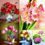 5D DIY Full Drill Diamond Painting Flowers Cross Stitch Embroidery (C969)