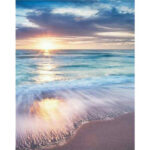 5D DIY Full Drill Diamond Painting Sunrise Beach Cross Stitch Embroidery