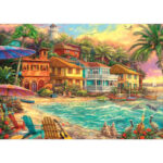 5D DIY Full Drill Diamond Painting Beach House Cross Stitch Embroidery Gift