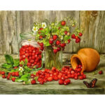 DIY Digital Painting By Numbers Kits Food Canvas Frameless Drawing Picture