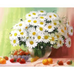 DIY Digital Painting By Numbers Kits Flower Canvas Picture Home Wall Art