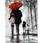 DIY Digital Painting By Numbers Kits Couples Frameless Canvas Picture Decor