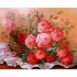 DIY Digital Painting By Numbers Kits Flower Frameless Picture Decoration