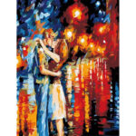 Painting By Numbers Kit DIY Moonlight Lovers Canvas Oil Picture Home Arts