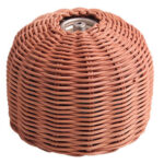Rattan Outdoor Gas Cylinder Cover Camping Cook Gas Tank Protector (Coffee)