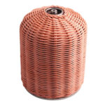 450g Gas Cylinder Cover Outdoor Camping Rattan Gas Tank Protector (Coffee)