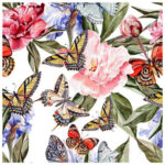 DIY Diamond Painting Butterfly Flowers Cross Stitch Embroidery Home Decor