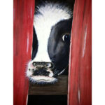 5D DIY Full Drill Diamond Painting Peek Cow Cross Stitch Embroidery Mosaic