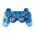 Double Vibration Wireless Controller Gamepad for Sony PS2 Joystick (Blue)