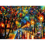 Painting By Numbers Kit DIY Romantic Stroll Canvas Oil Art Picture Craft