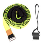 Fitness Resistance Band Pilates Yoga Gym Leg Stretcher Pull Rope (Green)
