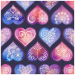 5D DIY Full Drill Diamond Painting Flower Heart Cross Stitch Embroidery Kit