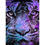 5D DIY Full Drill Diamond Painting Light Tiger Cross Stitch Embroidery Gift