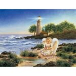 5D DIY Full Drill Diamond Painting Angel River Cross Stitch Embroidery Gift