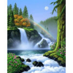 5D DIY Full Drill Diamond Painting River Rainbow Cross Stitch Mosaic Kit