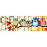5D DIY Diamond Painting Full Round Drill Rhinestone Picture Owl Embroidery
