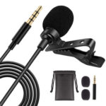 3.5mm Wired Lavalier Microphone Collar Lapel Clip-on Mic for PC Cell Phone